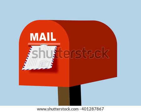 Mail box vector illustration.