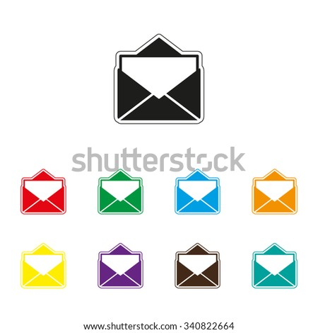 mail - color vector icon