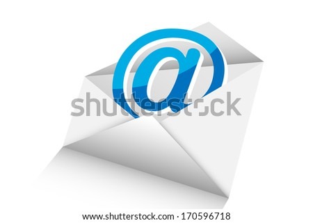 mail 3d vector