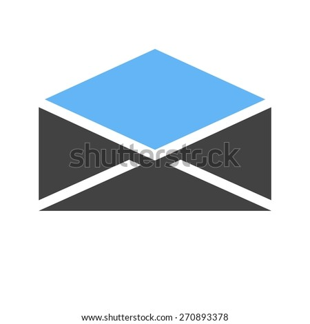 Mail, envelop, letter, post icon vector image. Can also be used for communication, connection, technology. Suitable for web apps, mobile apps and print media. - stock vector