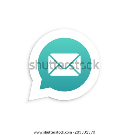 Mail Envelope in speech bubble icon Vector illustration - stock vector