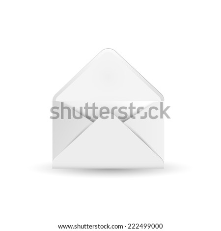 Mail envelope isolated on white background with shadow Vector Background - stock vector