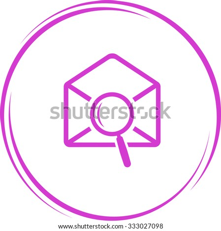 mail find. Internet button. Vector icon. - stock vector