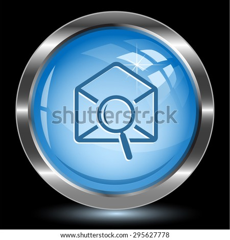 mail find. Internet button. Vector illustration. - stock vector