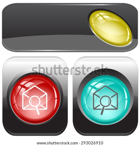 mail find. Vector internet buttons. - stock vector
