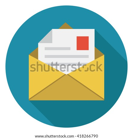 mail icon - stock vector