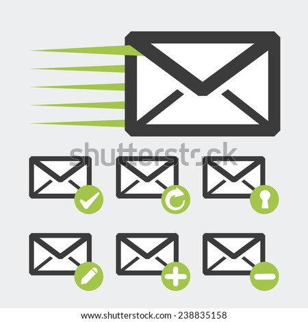 mail icon design, vector illustration eps10 graphic  - stock vector