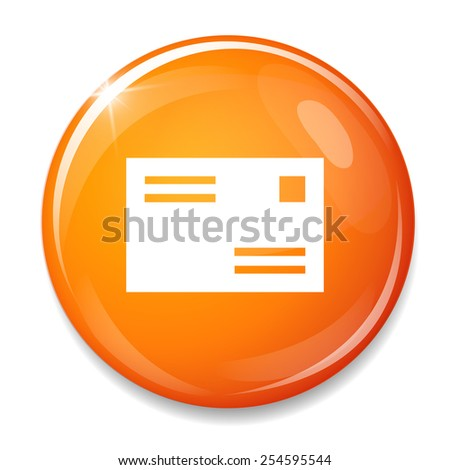 Mail icon. Message sign - stock vector