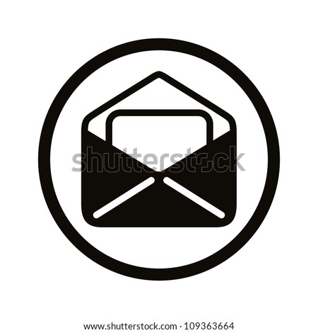 Mail icon, vector. - stock vector