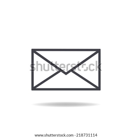 mail icon , vector illustration - stock vector