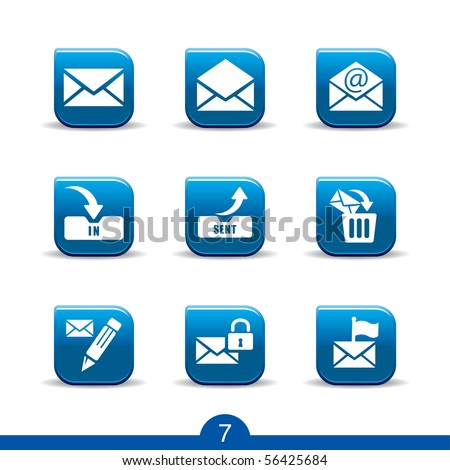 mail icons no.7..smooth series - stock vector