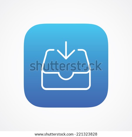 Mail Inbox sign pictogram. Vector symbol icon. Simple flat metro design style. ESP10 - stock vector