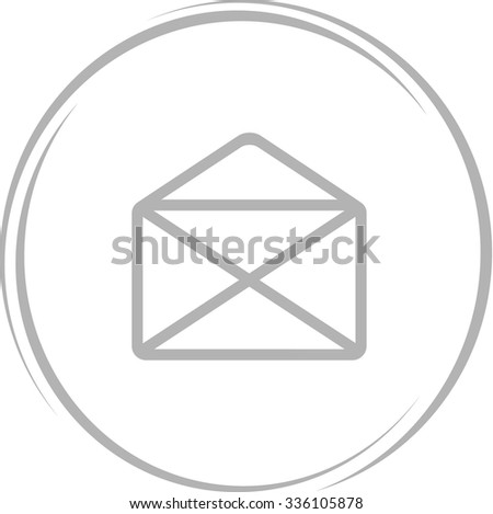 mail. Internet button. Vector icon.