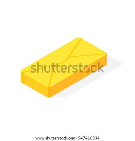 Mail isometric icon vector.