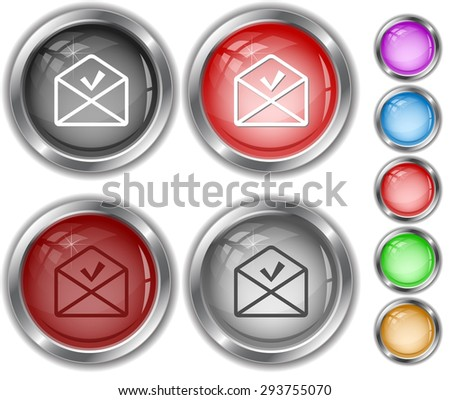 mail ok. Internet buttons. - stock vector