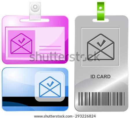 mail ok. Vector id cards. - stock vector
