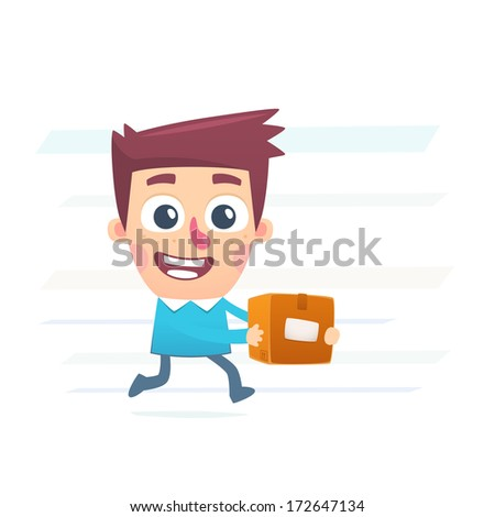 Mail service - stock vector