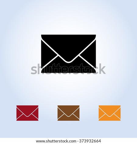 Mail sign icon, vector illustration. Flat design style