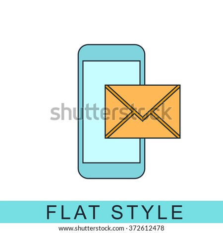 mail smartphone Icon Vector. Icon JPEG. mail smartphone Object. mail smartphone Icon Picture. mail smartphone Icon Image. mail Graphic. mail Art. Icon JPG. Icon EPS. Icon AI. mail smartphone Drawing - stock vector