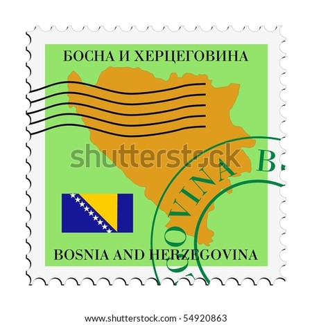 mail to/from Bosnia and Herzegovina - stock vector