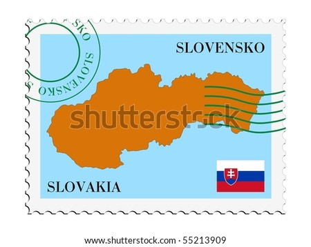 mail to/from Slovakia - stock vector