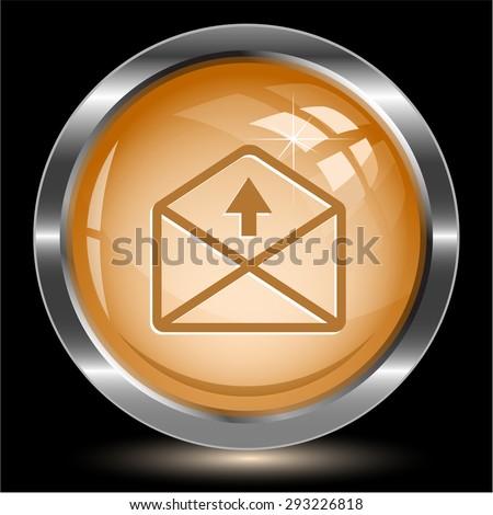 mail up arrow. Internet button. Vector illustration. - stock vector