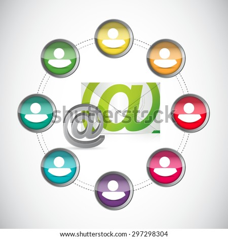 mail us contacts connections illustration design graphic - stock vector