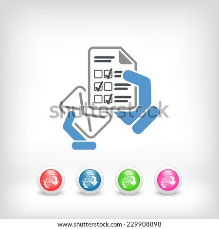 Mail with a questionnaire - stock vector