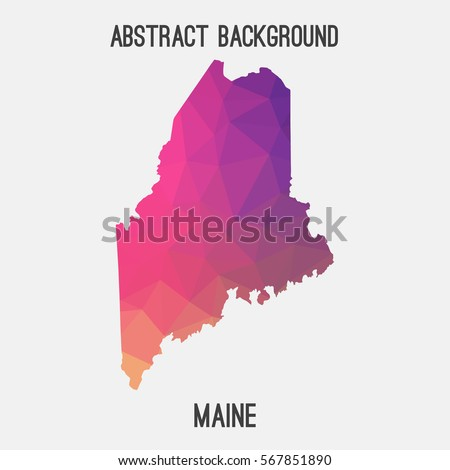 Maine Map Stock Images RoyaltyFree Images Vectors Shutterstock - Maine map