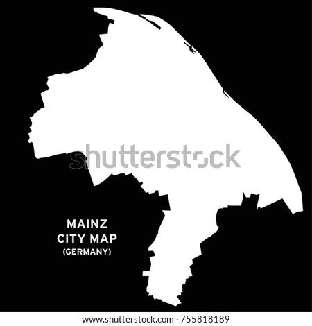Mainz Germany City Map Vector Stock Vector 755818189 Shutterstock