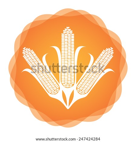 Maize icon, agricultural concept, abstract illustration for your design - stock vector