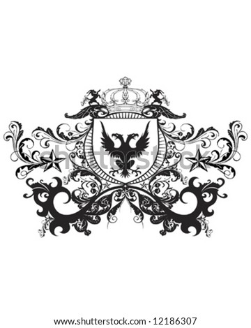 majestic crest - stock vector
