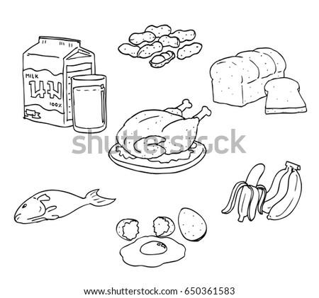 major food category 5 stock vector 650361583 shutterstock. Black Bedroom Furniture Sets. Home Design Ideas
