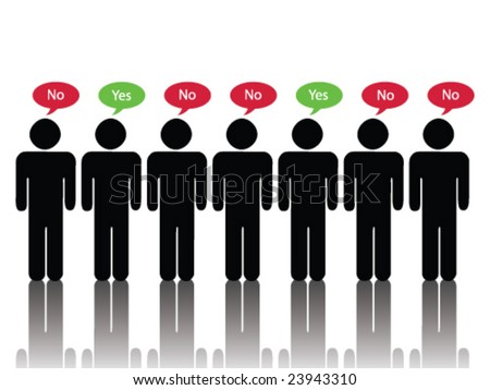Majority Disagrees (JPG file version available in my portfolio) - stock vector