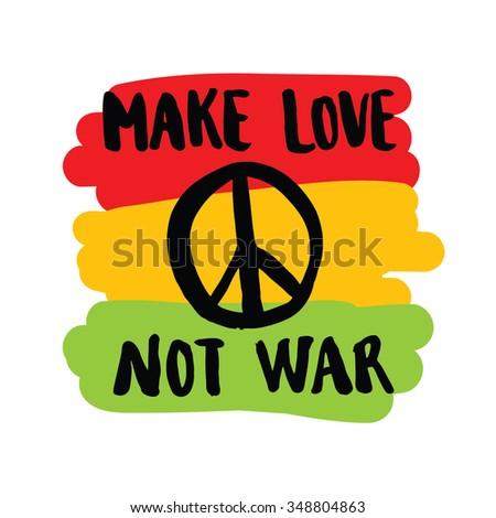 make love not war handwriting colorful stock vector 348804863 rh shutterstock com Numerial Clip Art Bedroom Clip Art Emoticons
