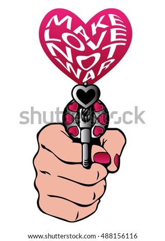make love not war slogan greeting stock vector 488156116 shutterstock rh shutterstock com Suggestions Clip Art Numerial Clip Art