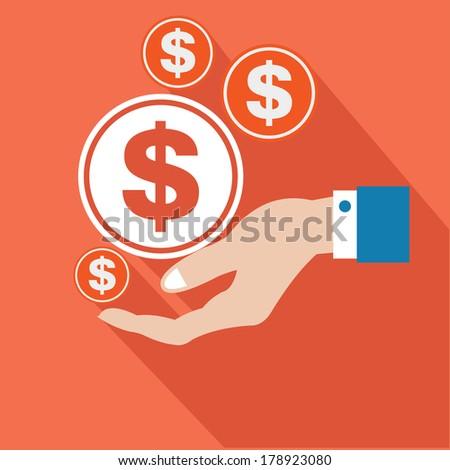 Make money concept,vector - stock vector
