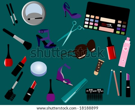 Make up - stock vector