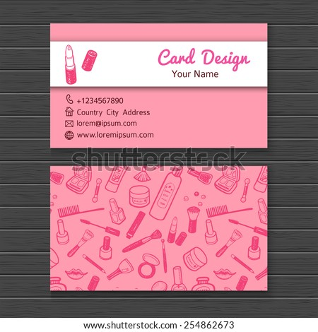 Make artist business card template stock vector 2018 254862673 make up artist business card template fbccfo Images