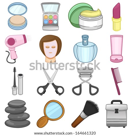 Make up & beauty Icons Set // illustration - stock vector