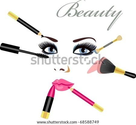 makeup - stock vector