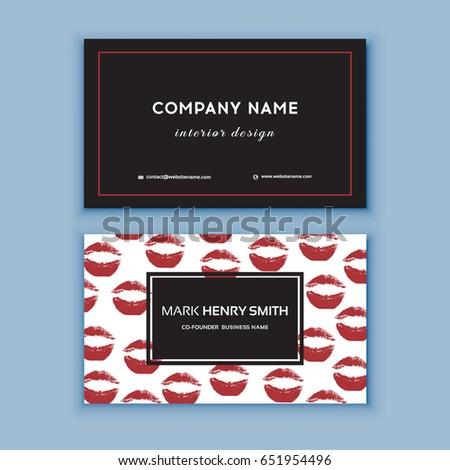 Makeup Artist Business Card Business Cards Stock Photo Photo