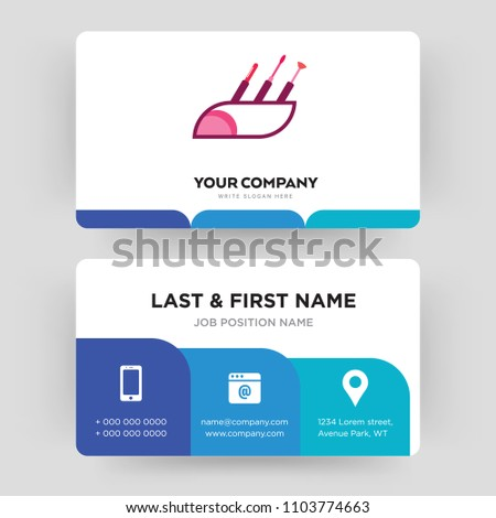 Makeup artist business card design template stock vector royalty makeup artist business card design template visiting for your company modern creative and colourmoves