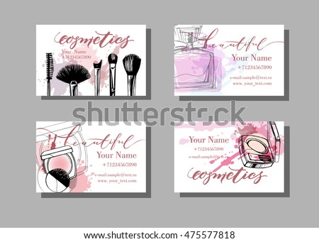 Makeup artist business card vector template stock vector royalty makeup artist business card vector template stock vector royalty free 475577818 shutterstock reheart Image collections