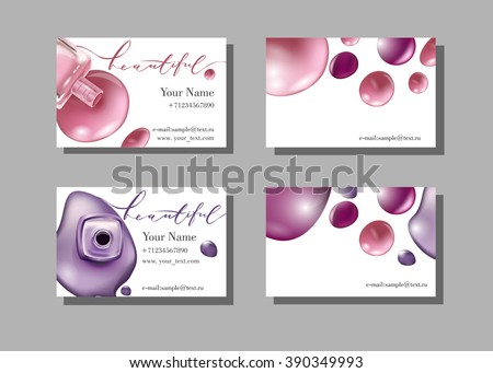 Makeup artist business card vector template stock vector hd royalty makeup artist business card vector template with makeup items pattern nail polish fashion colourmoves