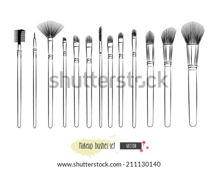 Makeup Brush Icon Makeup Brushes Hand Drawn
