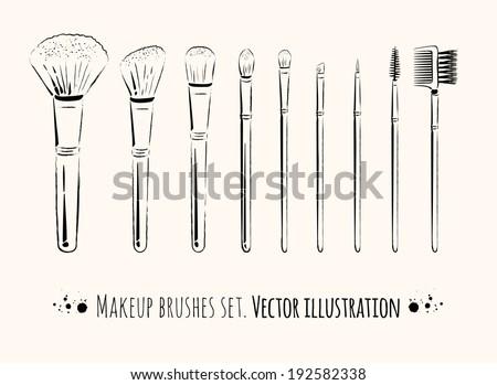 Makeup Brush Icon Makeup Brushes Kit