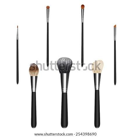 makeup brush vector - photo #14