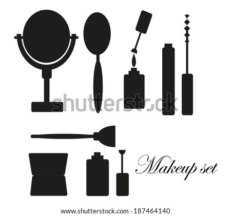 Black And White Makeup Icon Makeup Icons Over White