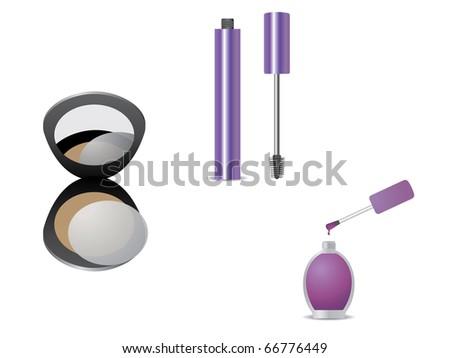 Makeup kit - stock vector